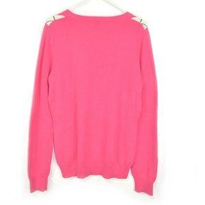 Izod Sweaters - Izod Women Cotton V Neck Pink Sweater Size L